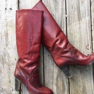 70s🕺🏻Etienne Aigner Red Oxblood Leather Boots